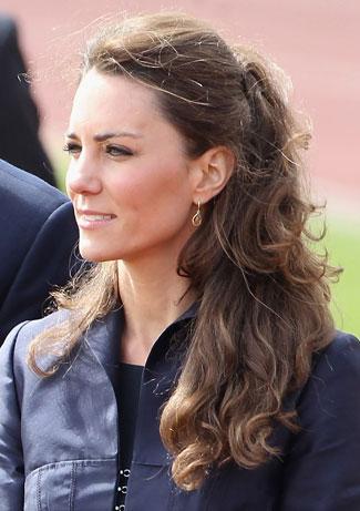 kate middleton hairstyles half-up pony