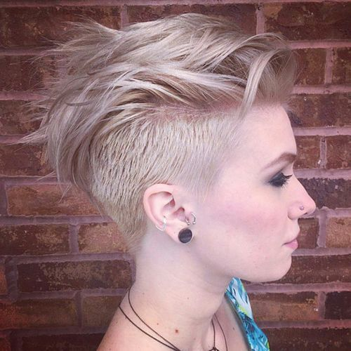 mohawk haircut for white women High Mohawk with side under-cut