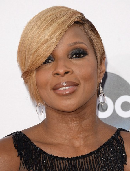 short hairstyles for black women Arched bangs