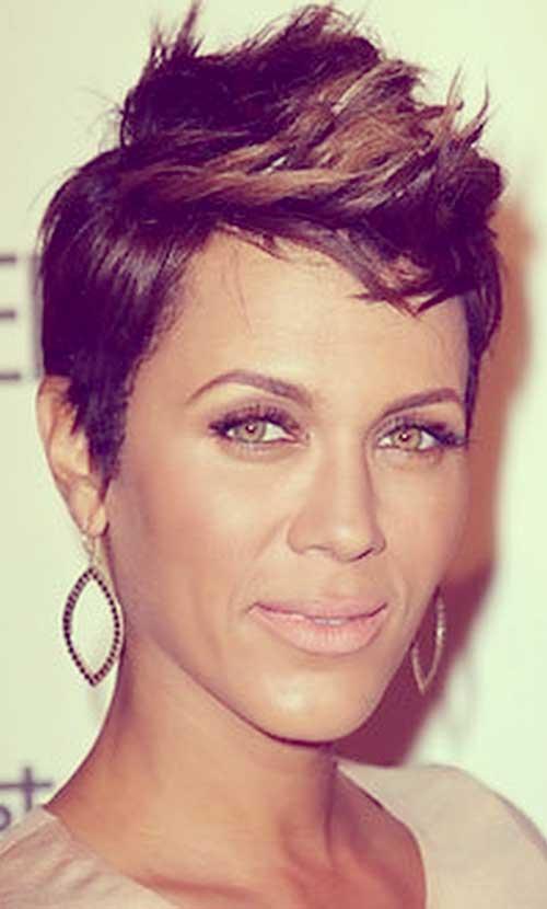 short hairstyles for black women Faux hawk