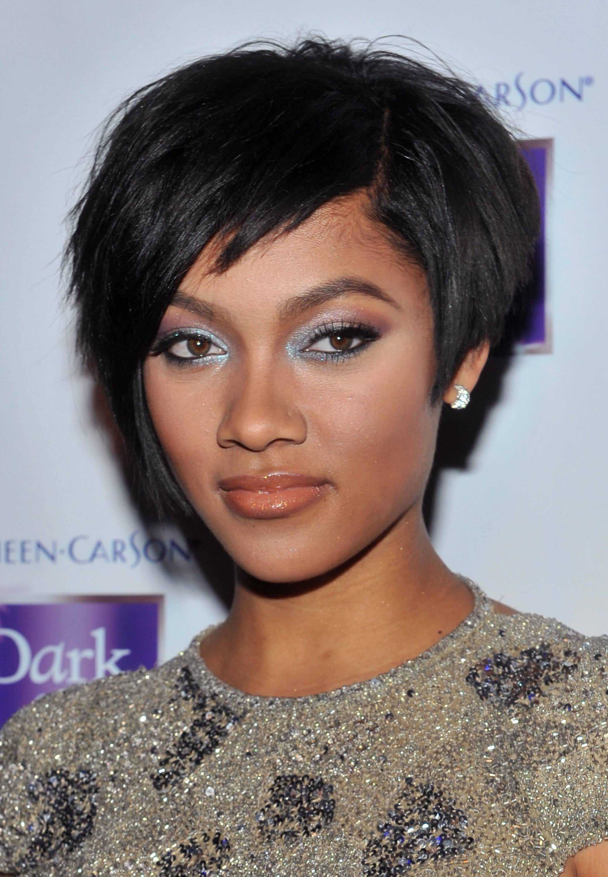 short hairstyles for black women Short black and choppy