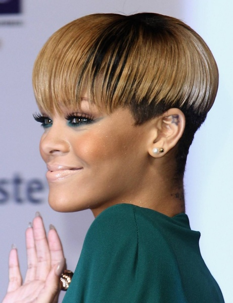 short hairstyles for black women Short mushroom cut