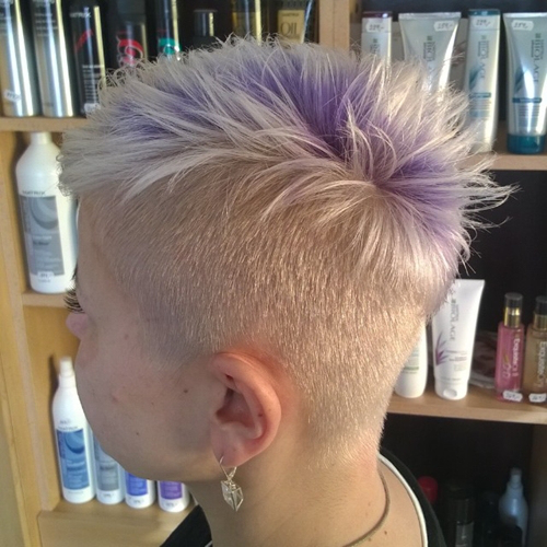 undercut hairstyles for women Smoky lavender undercut