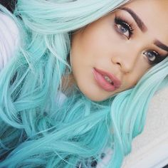 grey hairstyles for women Baby blue
