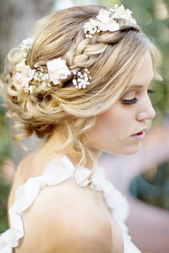 Beautiful Flower Girl Hairstyles Braided crown