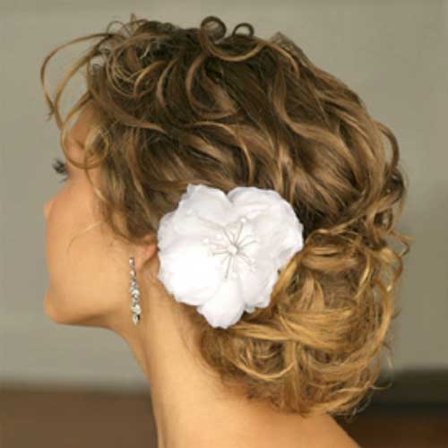 Beautiful Flower Girl Hairstyles Curly Low Bun