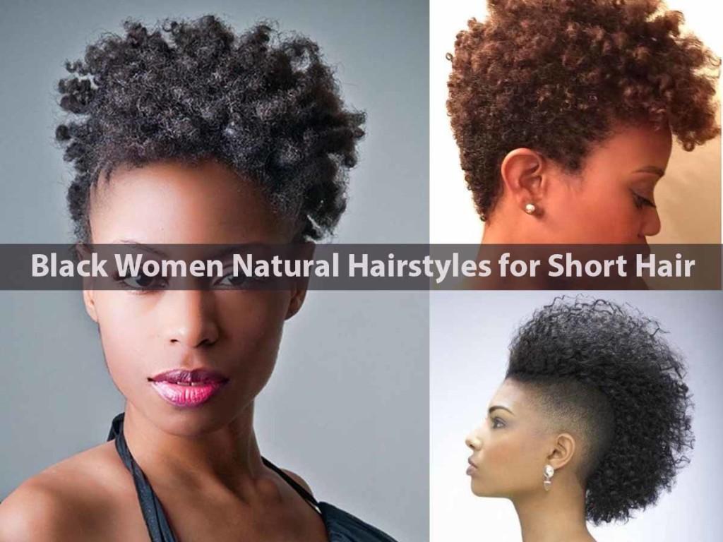 Black Women Natural Hairstyles for Short Hair