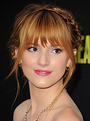 Braided hairstyles suitable for prom night Braid with straight bangs