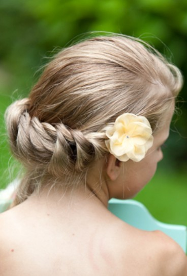 Braids hairstyle with Flowers Twist Braid hairstyle with flowers