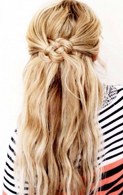 Easy Hairstyles which can be done in Seconds Half up-down style