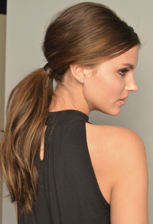 Easy Hairstyles which can be done in SecondsLow straight ponytail