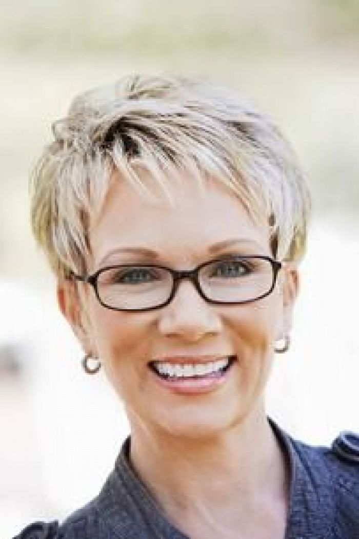 Hairstyles for Women above 50 with Fine Hair and Glasses textured pixie
