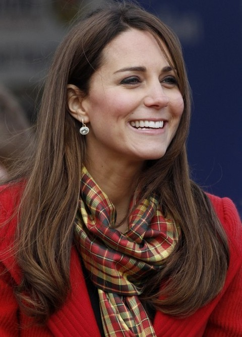 Kate Middleton hairstyles Long straight haircut