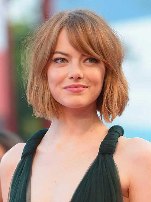 Natural hairstyles by the celebs Ema stone Bob cut
