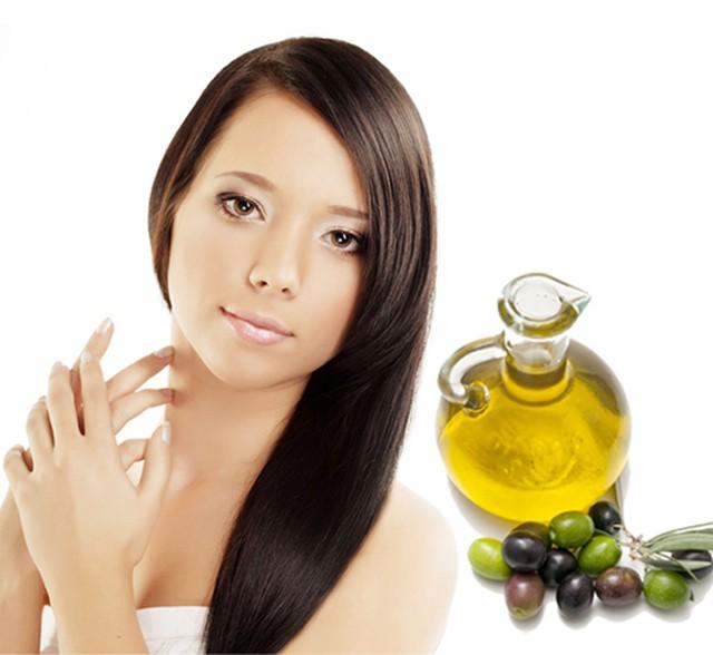 applying oil to hair white hair