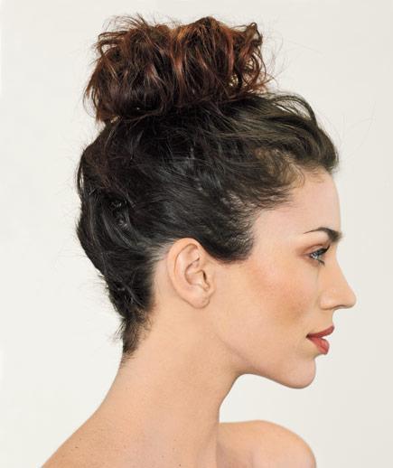easy hairstyles for long hair High bun