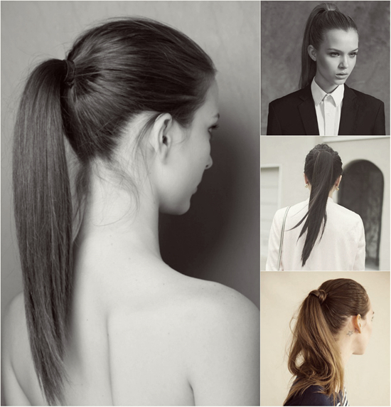 easy hairstyles for long hair High straight ponytail