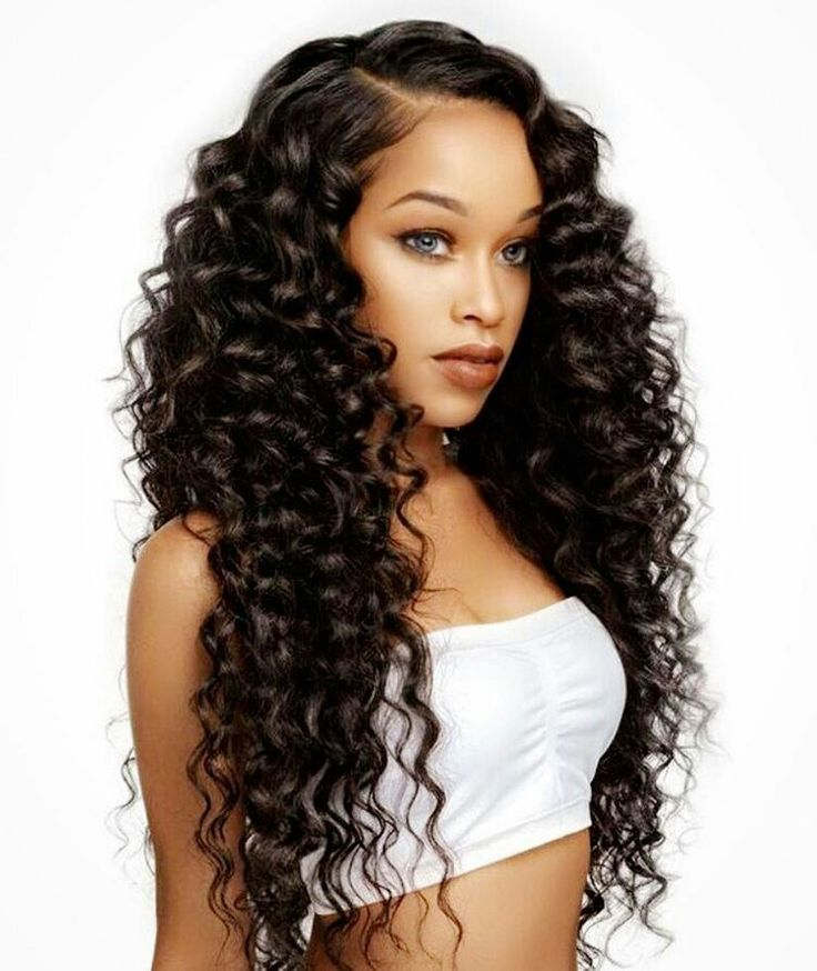 easy hairstyles for long thick hair Deep curls