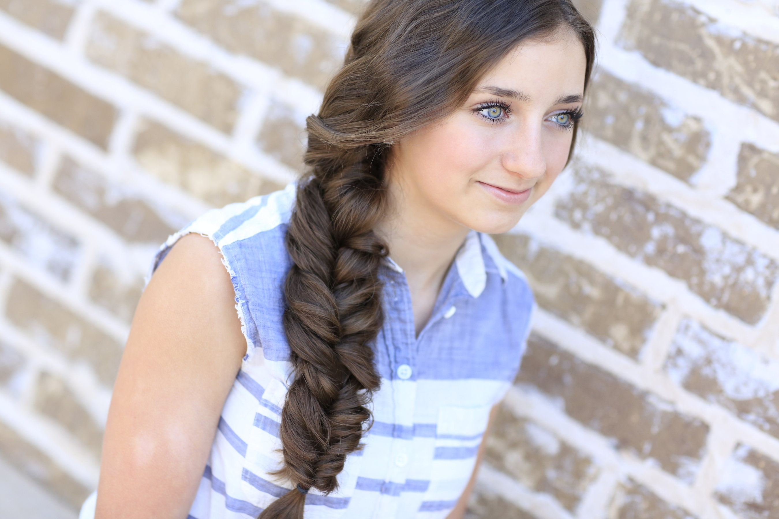 easy hairstyles for long thick hair Side braid
