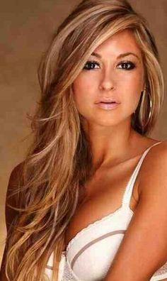 hair colors for women Caramel blonde
