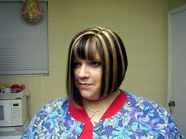 hairstyle for fat women above age 40 straight bob cut