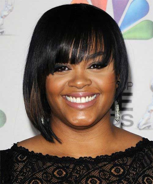 hairstyle for round faces Black bob