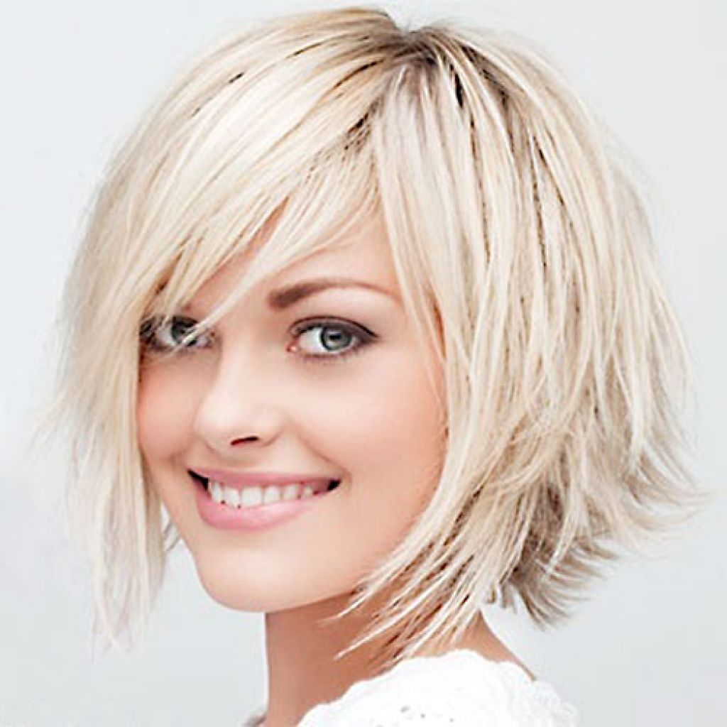 hairstyle for thick hair Edgy bob haircut