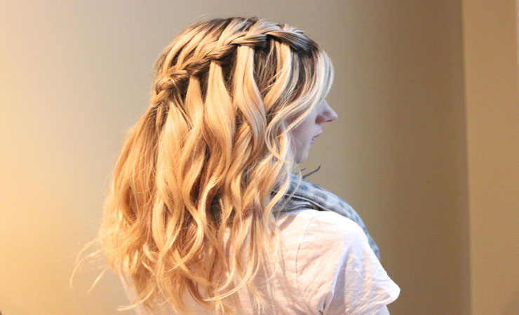Hairstyles for Long Thick Hair Water fall braid