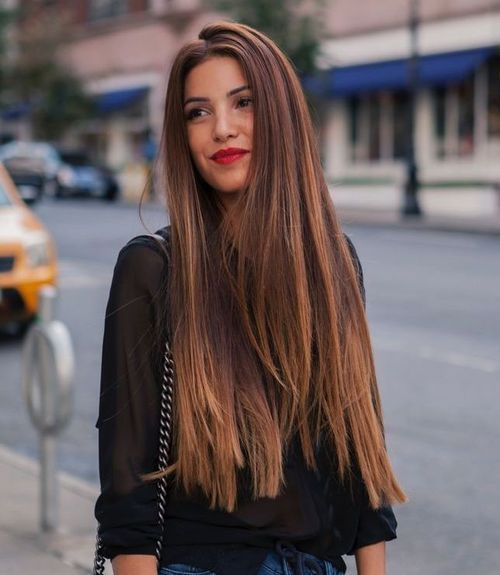 Hairstyles for Long Thick Hair ombre features