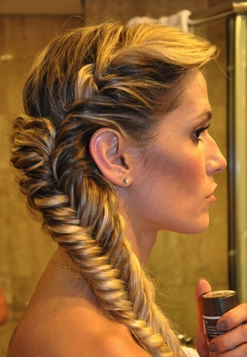 Hairstyles for Long Thick Hair Triple fishtail braid