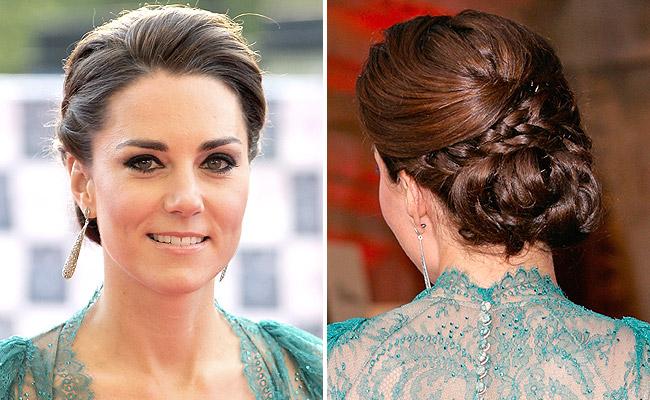 Kate Middleton hairstyles for women Braided bun