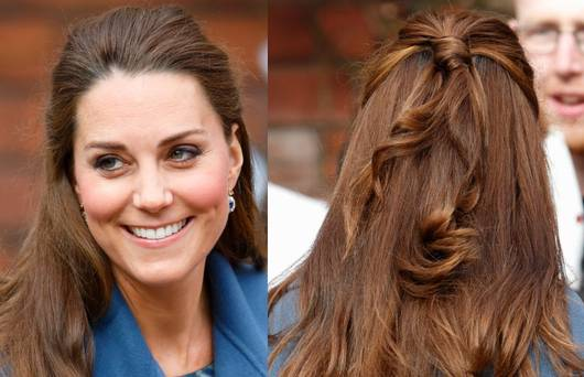 Kate Middleton hairstyles Half up-do