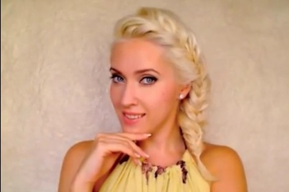 party hairstyles for long hair braided bang with a ponytail