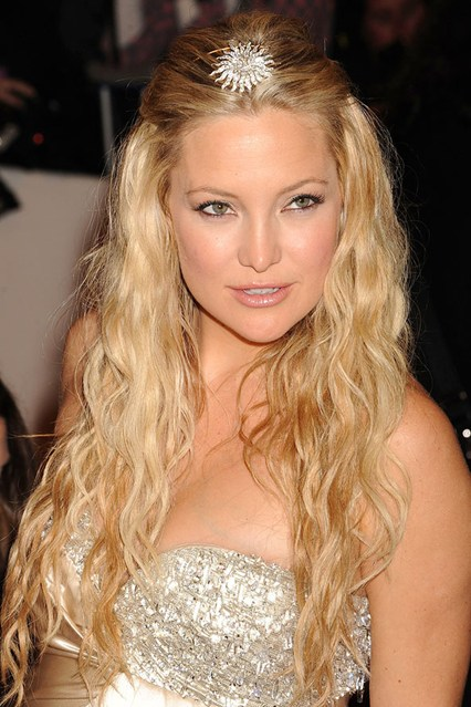 party hairstyles for long hair middle parted hair with a broach