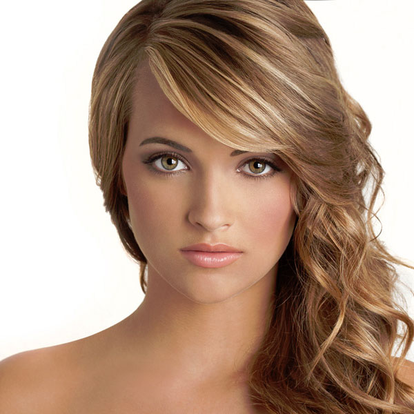 party hairstyles for long hair simle side swept