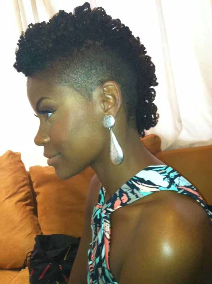 short curly hairstyles for black women Curls on undercut