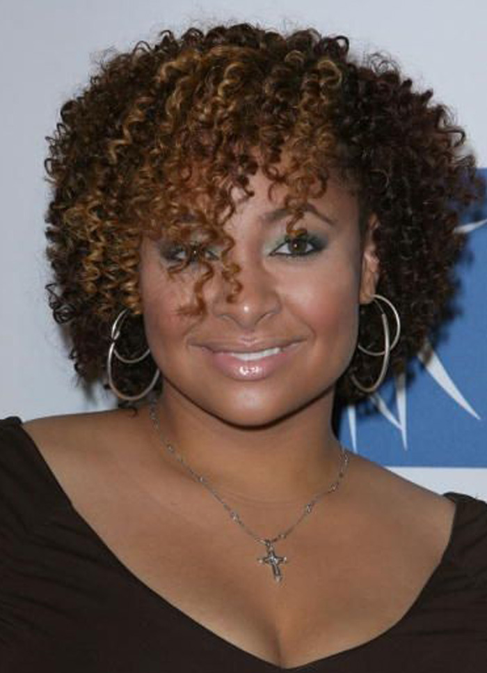 short curly hairstyles for black women Messed