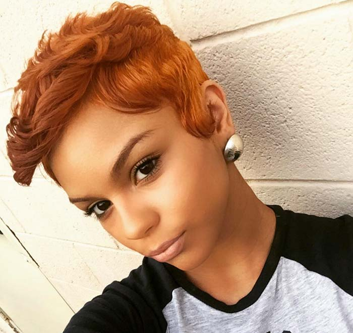 short curly hairstyles for black women Orange short