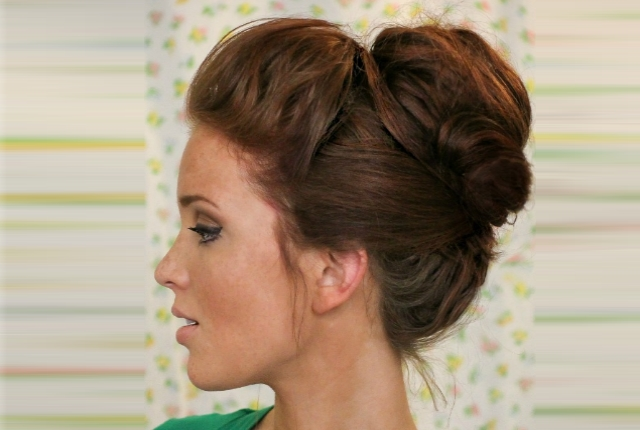 top knot hairstyles Puffed with top knot