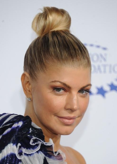 top knot hairstyles Sleek top knot