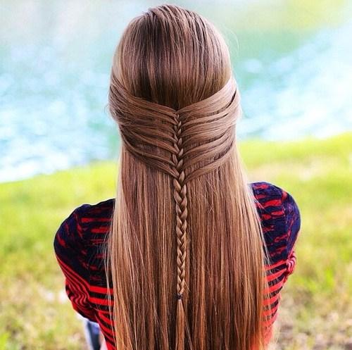 reverse waterfall hairstyle