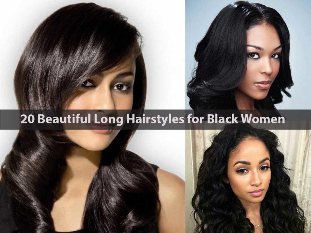 20 Beautiful Long Hairstyles for Black Women