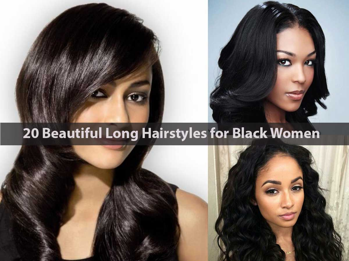 20 Beautiful Long Hairstyles for Black Women