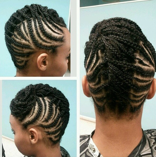 21. Cute Hairstyles for Black Girls braided hairstyle updo hairstyle