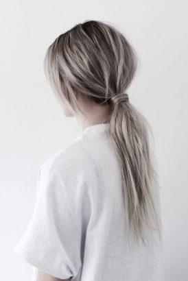 grey ponytail hairstyle