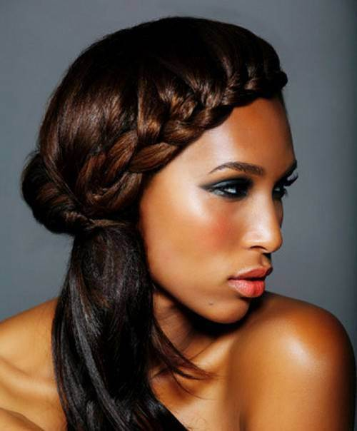 31. Cute Hairstyles for Black Girls gorgeous french braids