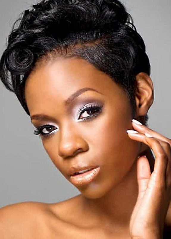 38. Cute Hairstyles for Black Girls black pixie cut
