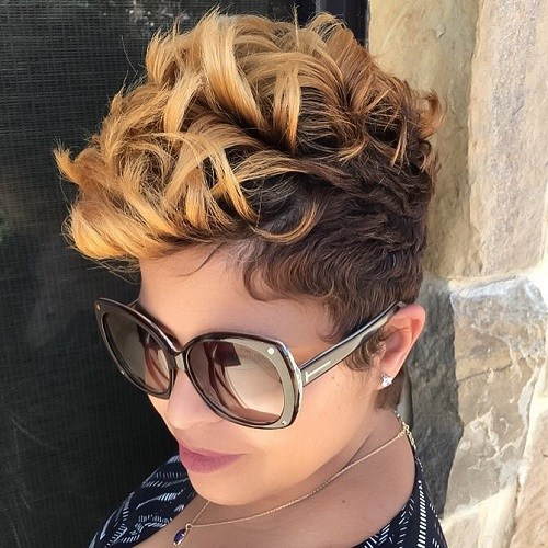 40. Cute Hairstyles for Black Girls Spiral Ombre Hairstyle