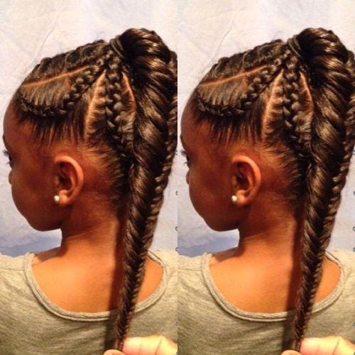 Cute Hairstyles for Black Girls back braid