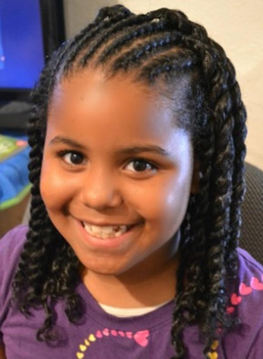 Cute Hairstyles for Black Girls back swept braid